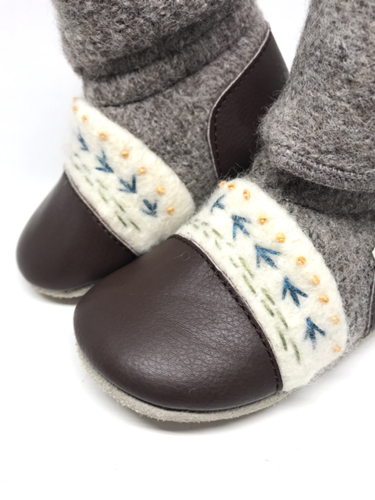 Nooks Wool Booties - Caribou