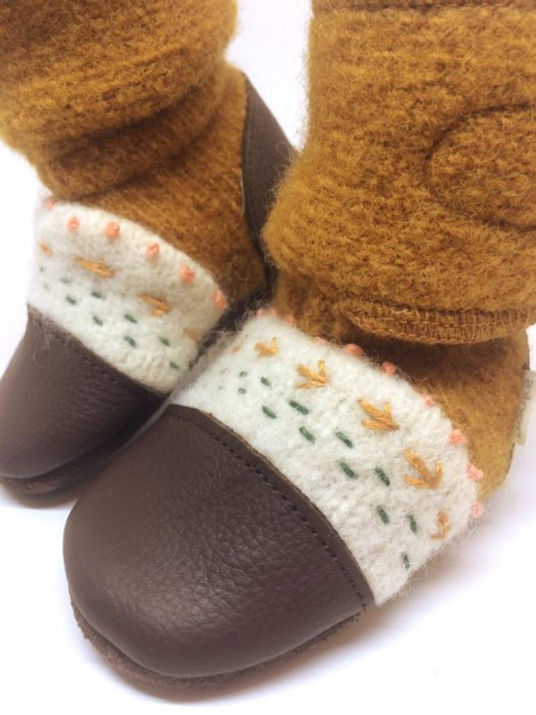 Nooks Wool Booties - Golden Spruce