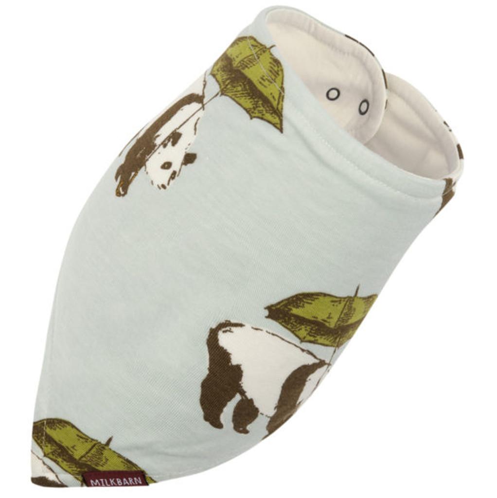 Milkbarn Bamboo Bandana Bib - Blue Panda