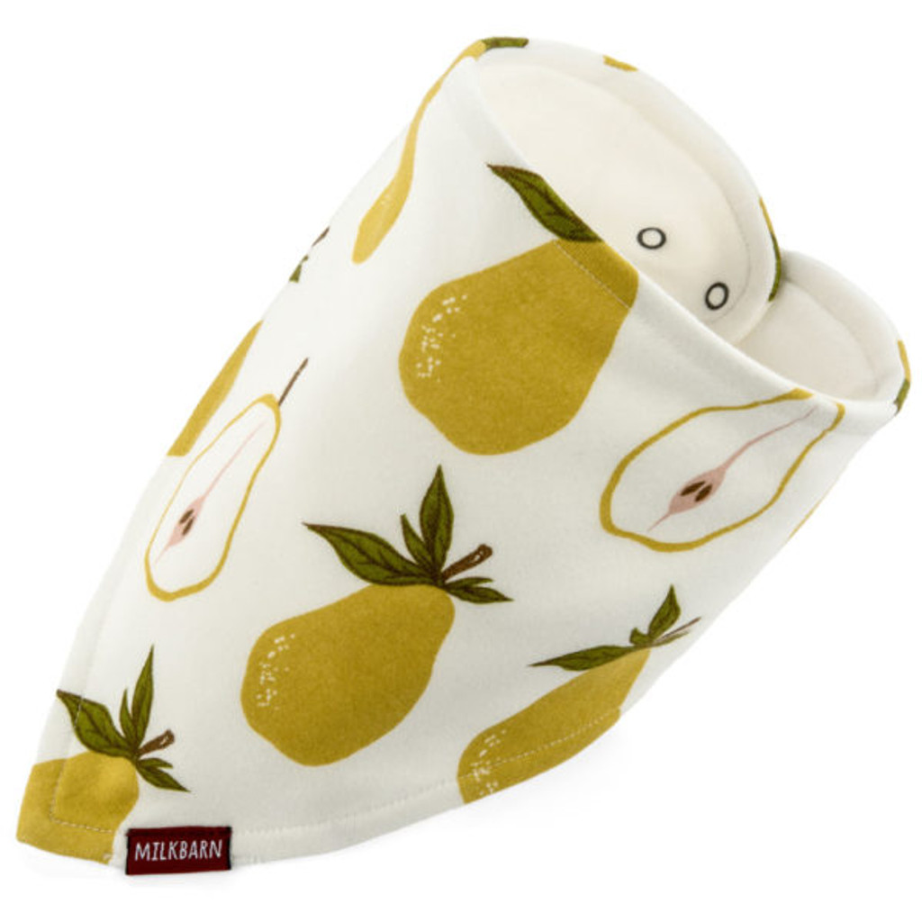 Milkbarn Organic Cotton Bandana Bib - Pear