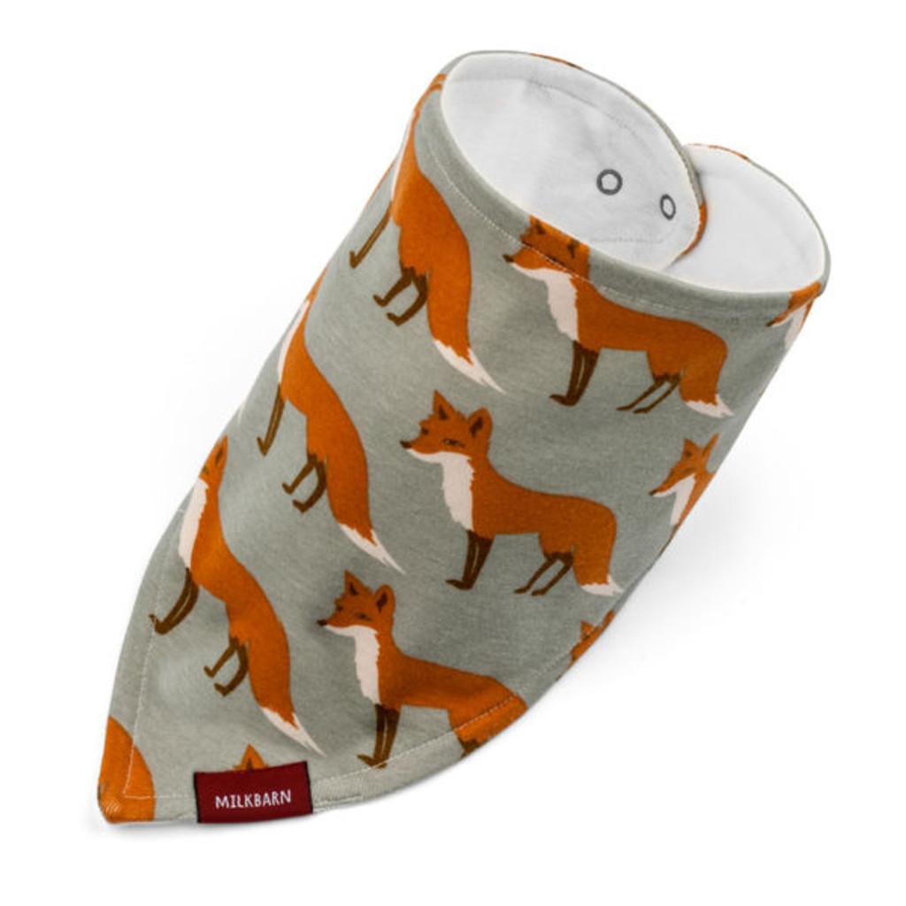 Milkbarn Organic Cotton Bandana Bib - Orange Fox
