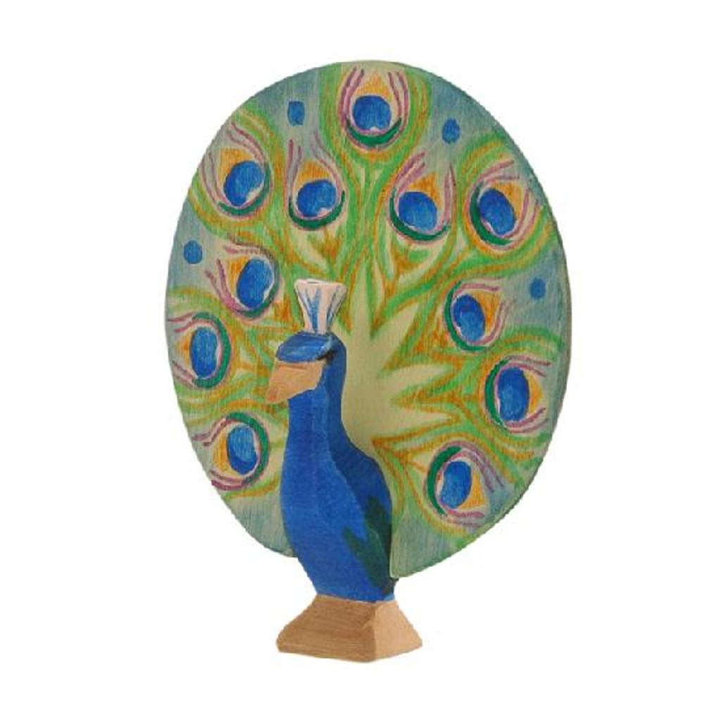 Ostheimer Wooden Peacock Open