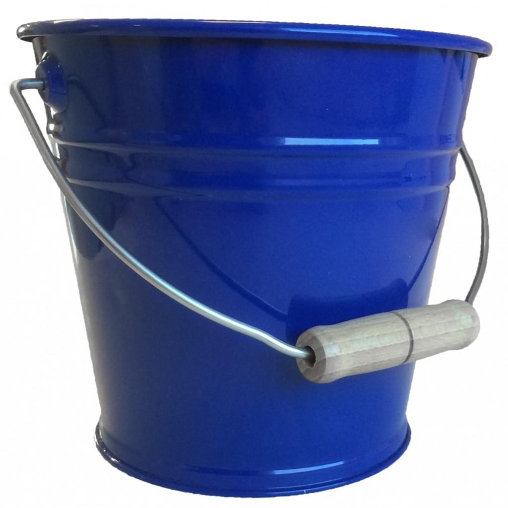 Enamel Bucket - Blue