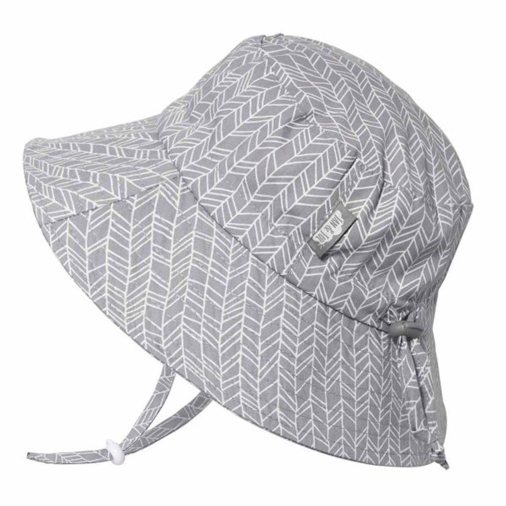 Twinklebelle Bucket Cotton Sun Hat -Grey Herringbone