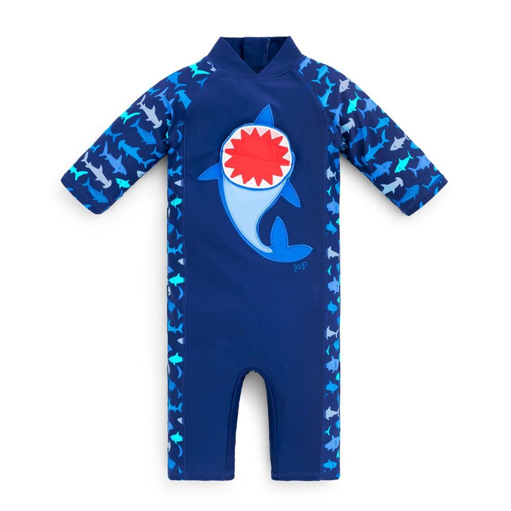 UV Swimsuit - Blue with Shark