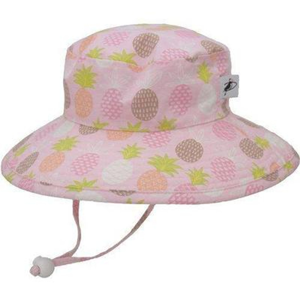Puffin Gear Cotton Sunbaby Sun Hat - Pink Pineapple