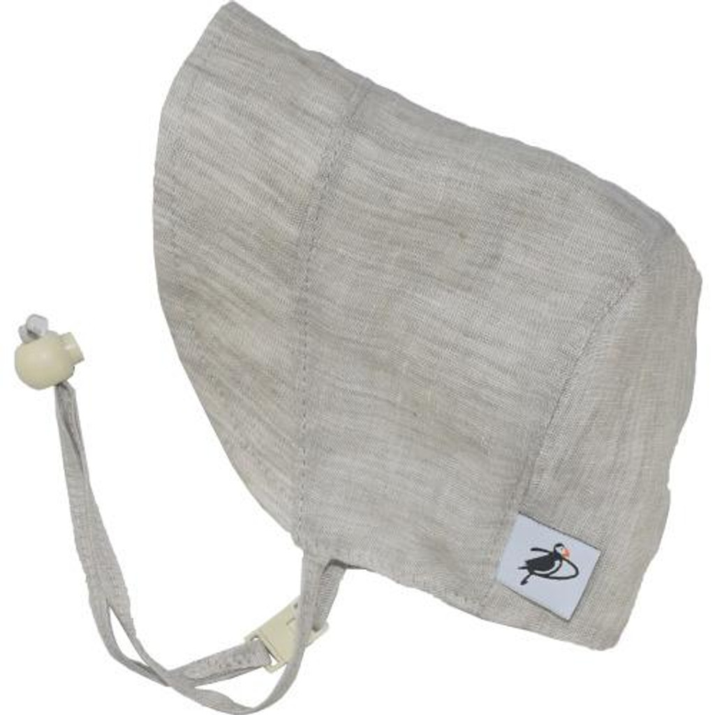 Puffin Gear Linen Bonnet - Natural