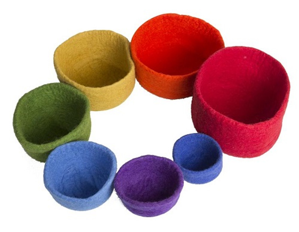 Papoose Nesting Bowls Rainbow 7 pc (PH275)