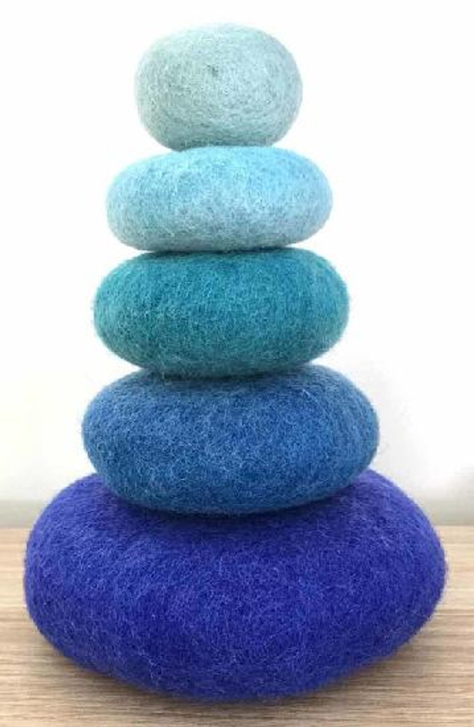 Papoose Felt Stacking Set 5 pc - Blue (PP450)