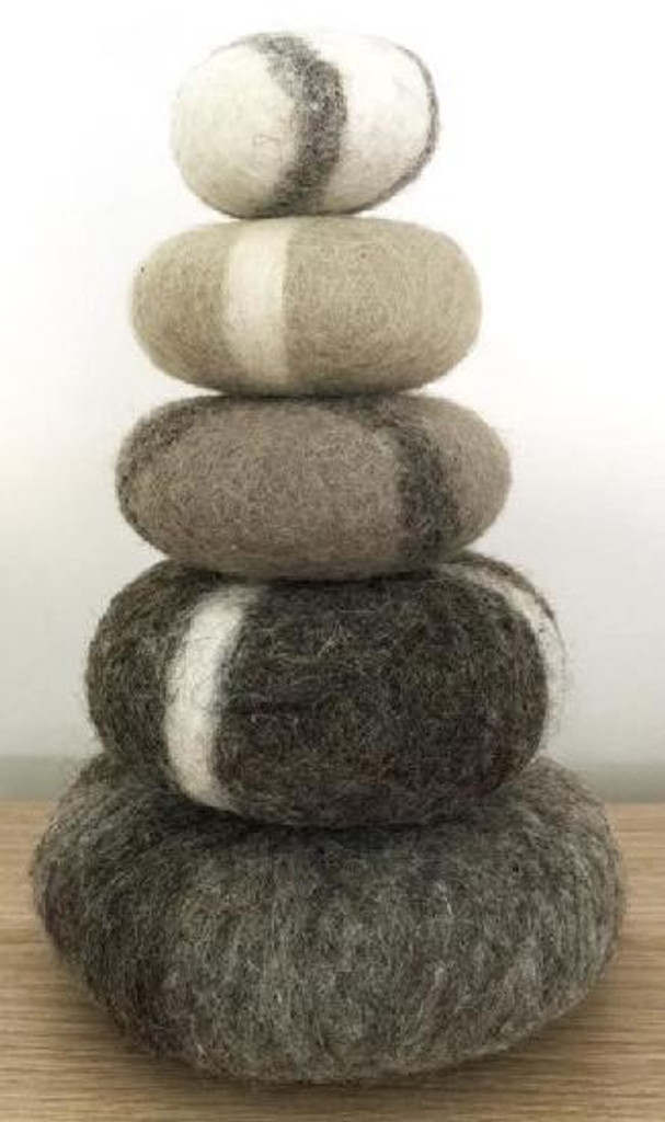 Papoose Felt Stacking Set 5 pc - Monochrome (PP452)