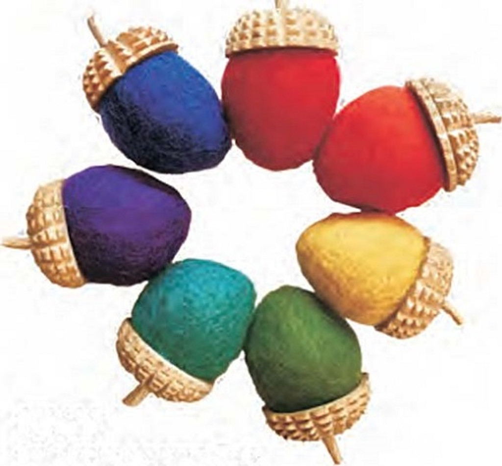 Papoose Rainbow Acorns 7pcs