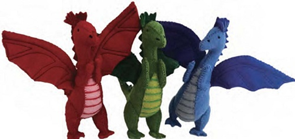 Papoose Felt Dragons Set of 3