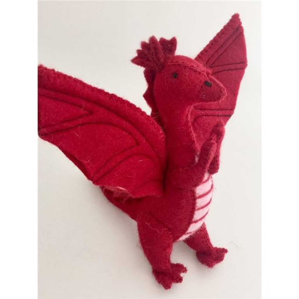 Papoose Felt Dragon - Red
