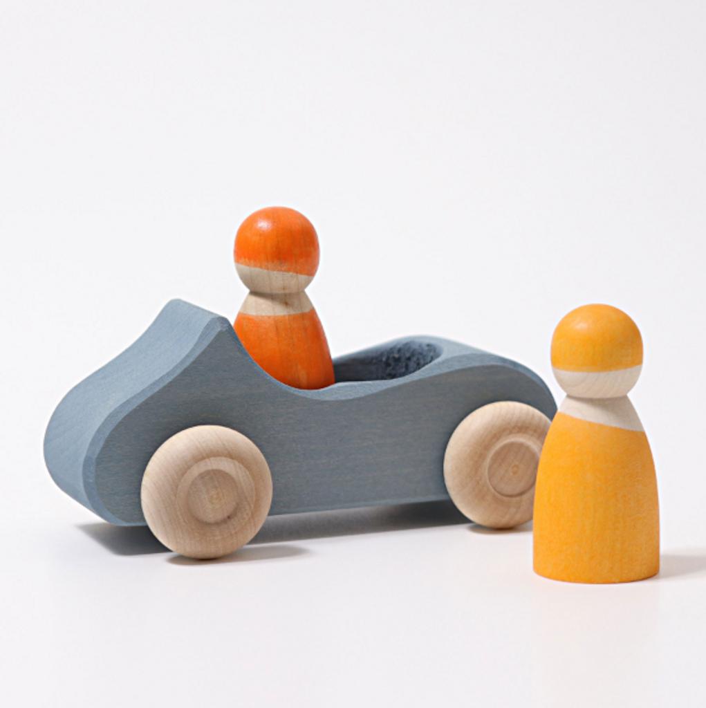 Grimm's Convertible Car Blue Large