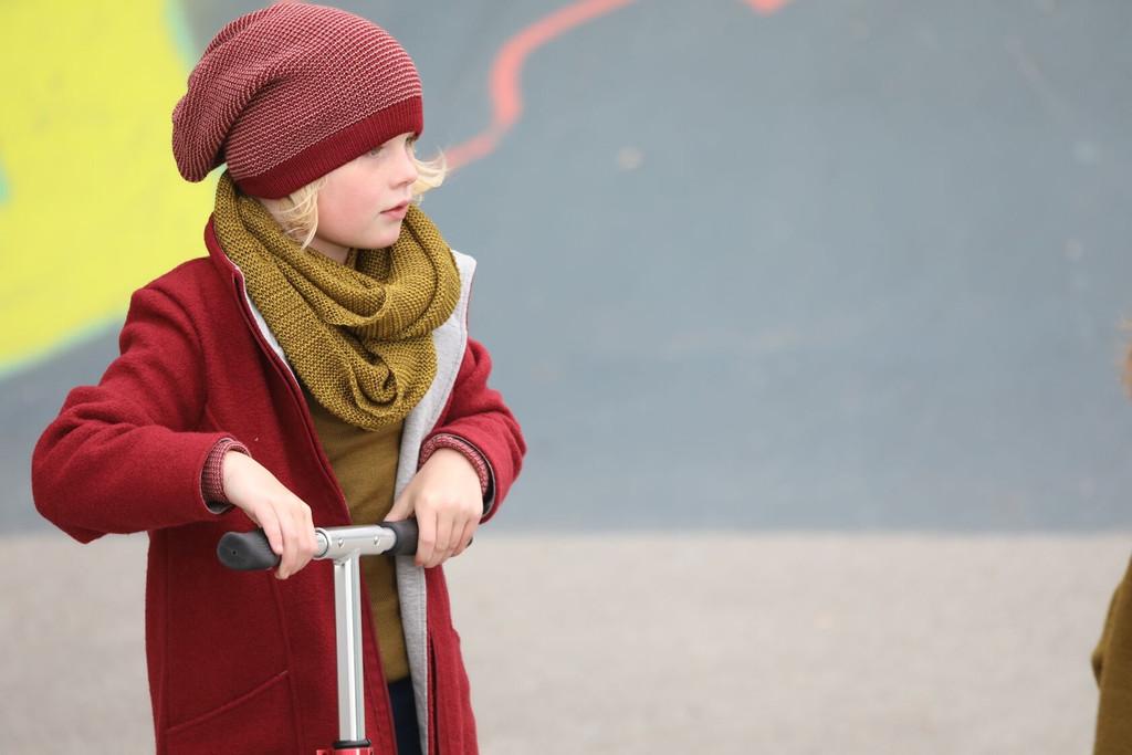 Disana Children's Boiled Wool Coat with Zipper