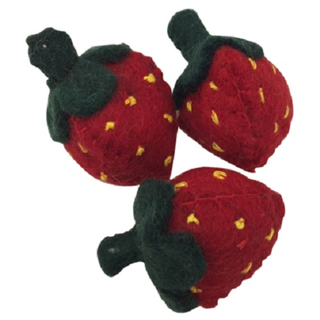 Papoose Felt Strawberries Set of 3 (PP060)