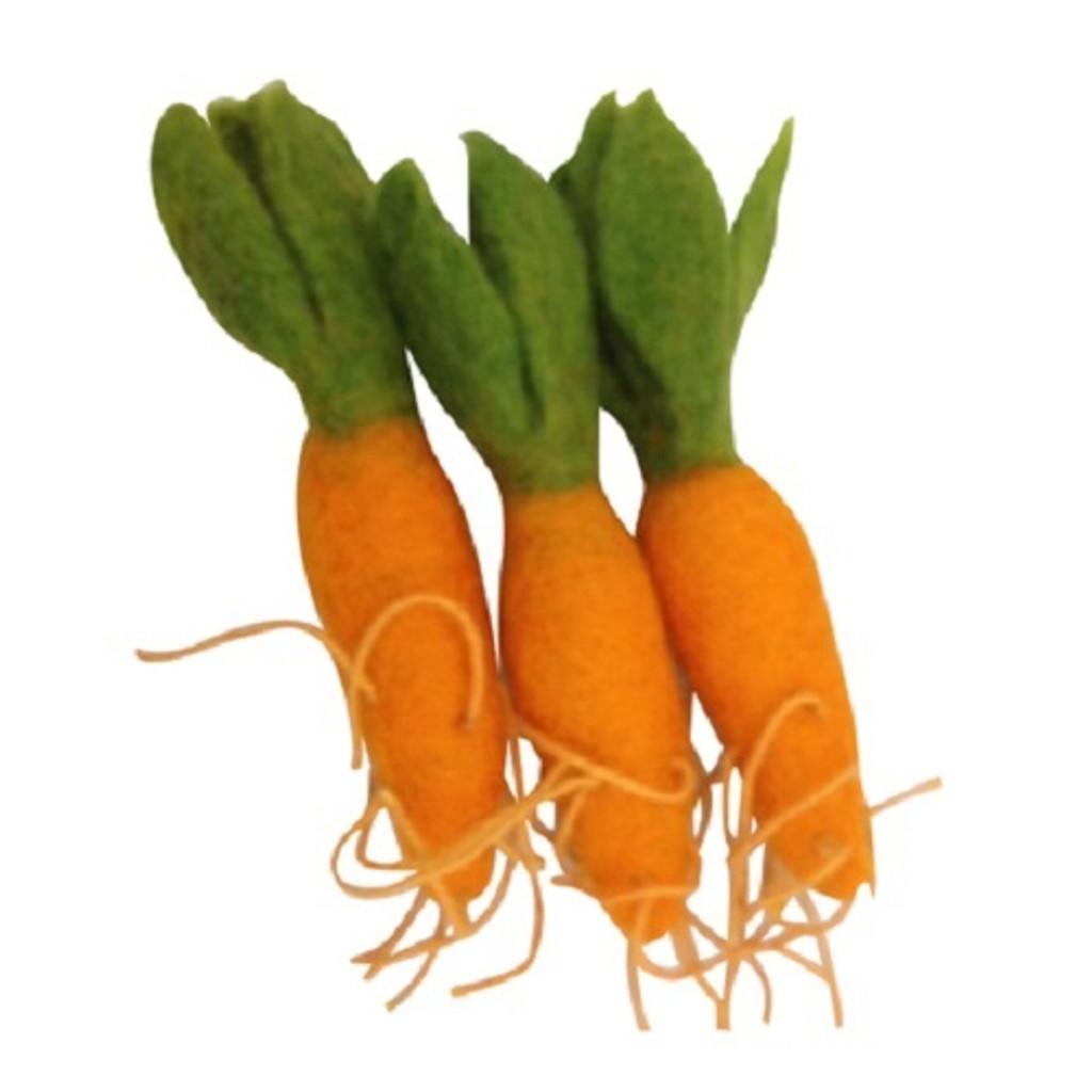 Papoose Felt Mini Carrots Set of 3 (PP210)