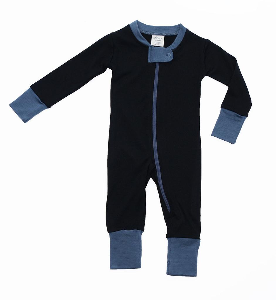 Wee Woollies Zip Sleeper - Raven/Charcoal (black/grey)