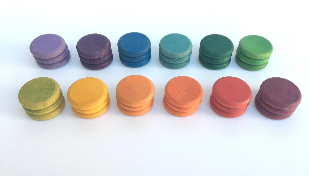 Grapat Rainbow Coins 36 pc (12 Colours) (16-146)