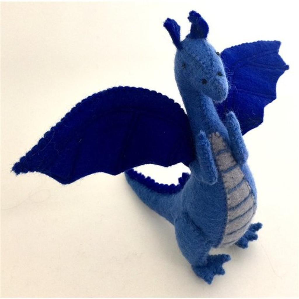 Papoose Felt Dragon - Blue