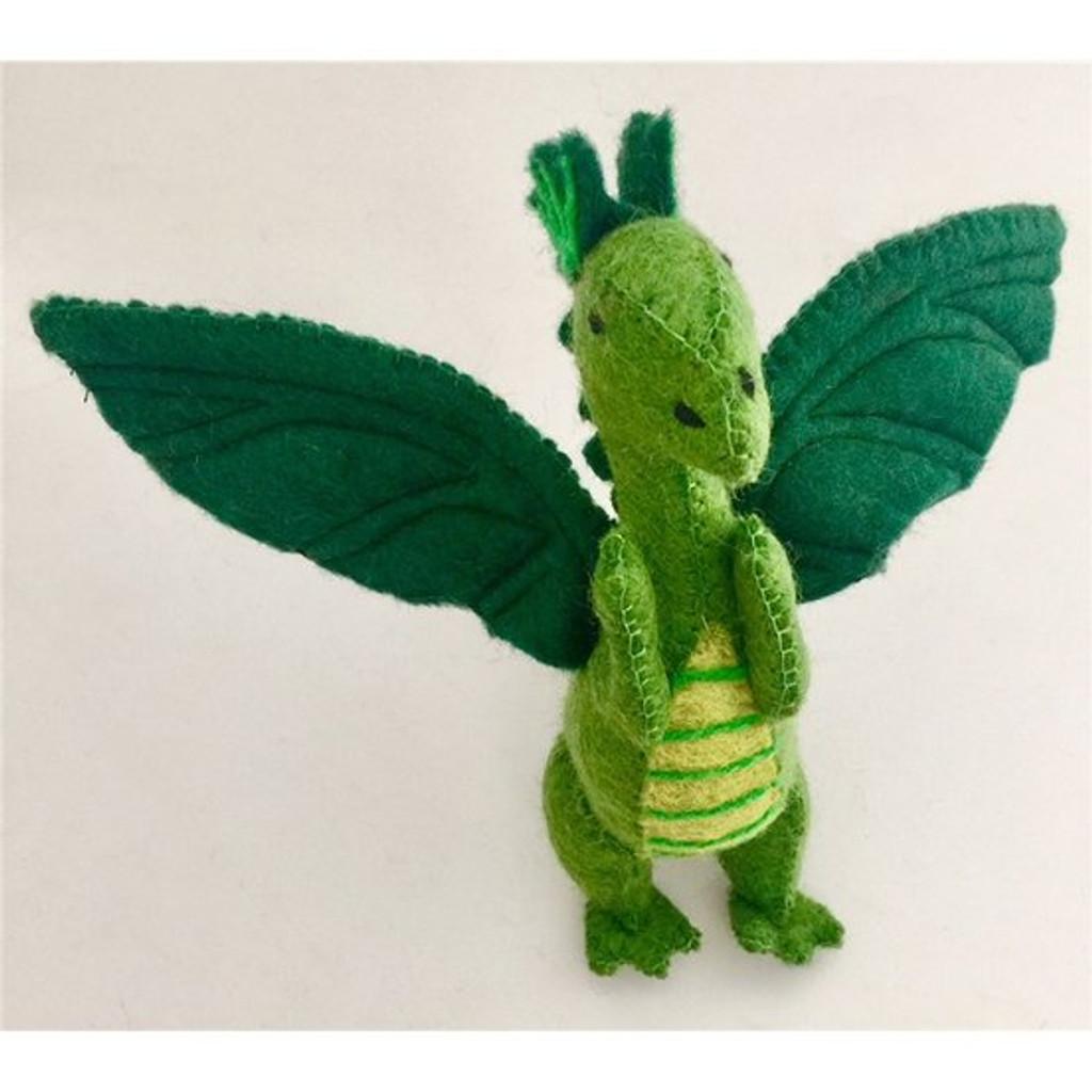 Papoose Felt Dragon - Green
