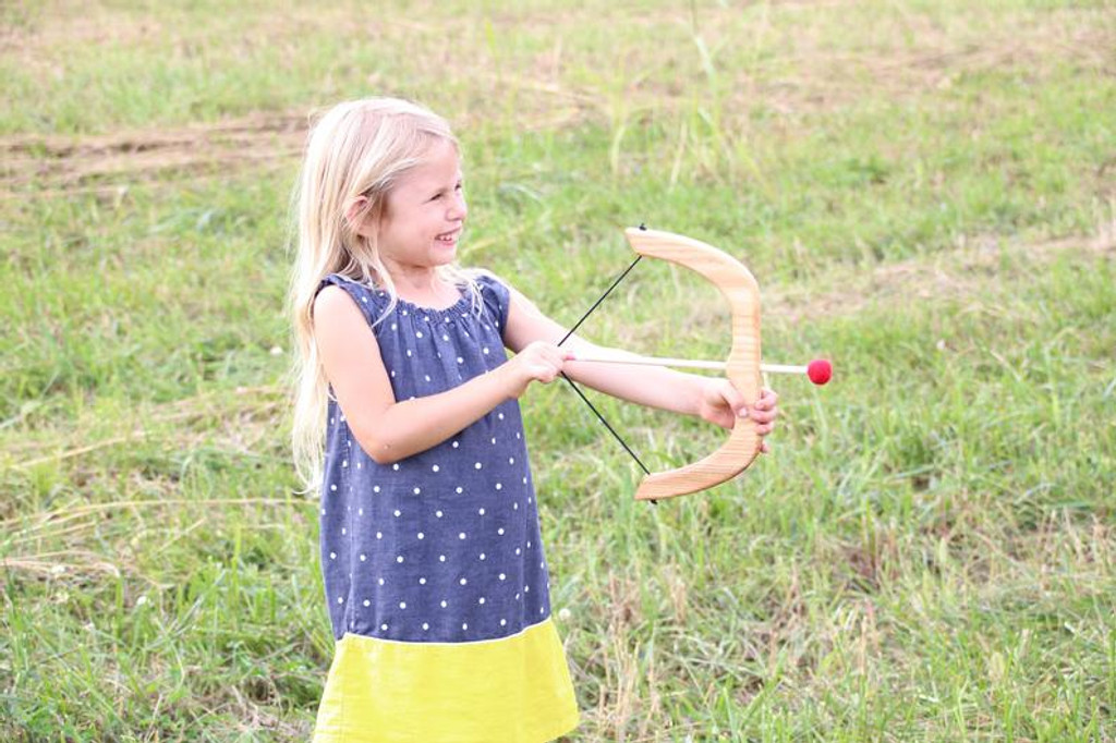 Wooden Bow and Arrows for kids