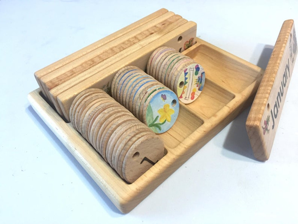 Storage Box for Wooden Home Calendar