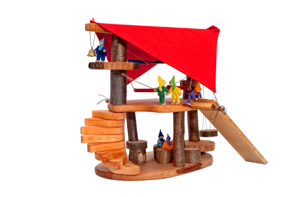 Magic Wood Gnome House with Red Canopy