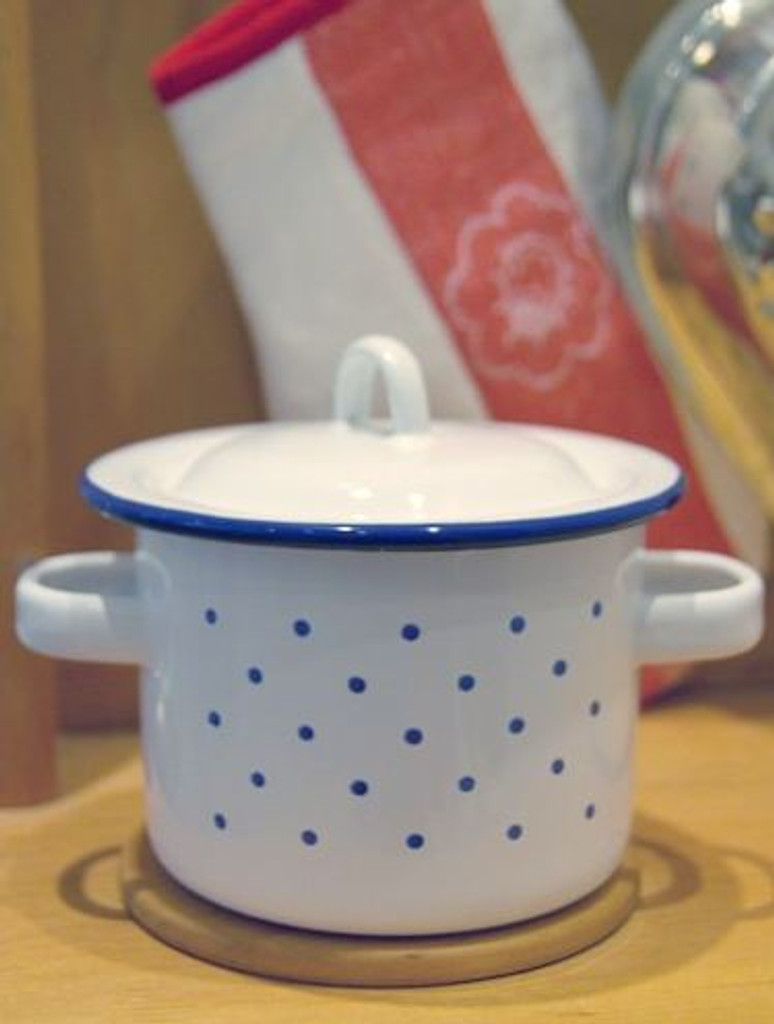 Glueckskaefer Enamel Pot High