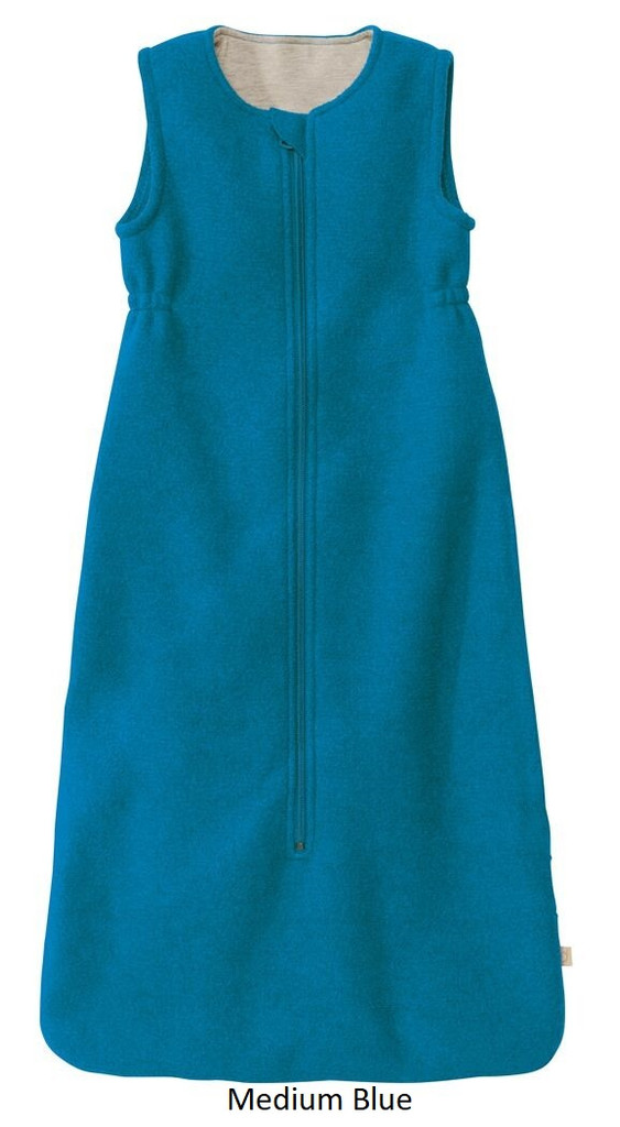 Disana Organic Boiled Wool Sleeping Bag Medium Blue