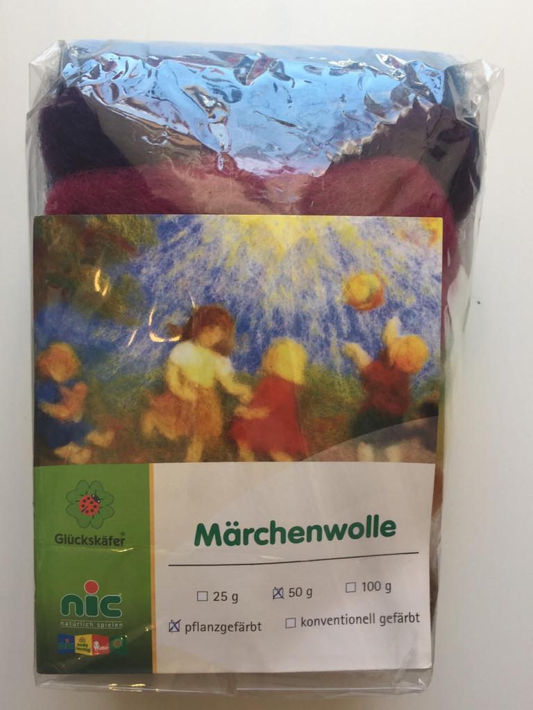 Fairy Tale Felting Wool (Plant Dyed) 50g - Glueckskaefer
