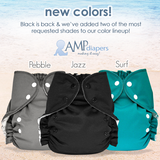 AMP Diapers - Pebble, Jazz and Surf