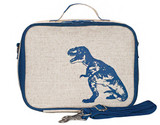 So Young Raw Linen Lunch Box - Dinosaur