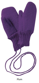 Disana Boiled Wool Gloves Plum