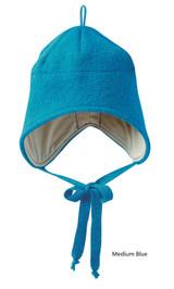 Disana Boiled Wool Hat Medium Blue