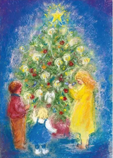 Around the Christmas Tree - Postcard