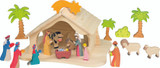 Holztiger Nativity Barn and figures sold separately