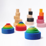 Grimm's Stacking Bowls - Rainbow (Red Outside)