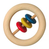Glueckskaefer Wooden Ring with Coloured Discs
