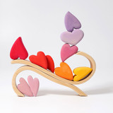 Grimm's Wooden Hearts Decoration - Red