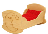 Drewart Wooden Cradle with Moon and Bedding