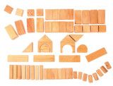 Grimm's 60 Wooden Geo Blocks - Natural