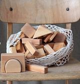 Grimm's 60 Wooden Geo-Blocks - Natural