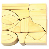Glueckskaefer Large Wooden Building Blocks - Natural