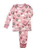 Silkberry Bamboo Pajama - 2 Piece Set - Pink Cloud Air Balloon