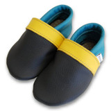 Formreich Soft Sole Baby Shoes - Charcoal/Yellow/Turquoise (All Sizes)