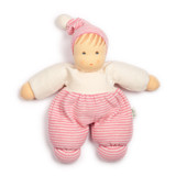 Nanchen Terry Cuddle Doll Mops - Pink Striped