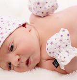 Newborn Scratch Mitts - Stars