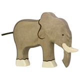 Holztiger Elephant with Trunk Down