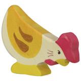Holztiger Hen Pecking